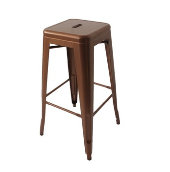 Tabouret 30 Inch White Metal Bar Stools