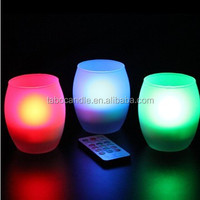 Flameless Remote Control Hurricane Candle with Frosted Glass Holder