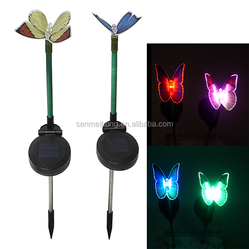 Solar Stake Lights Landscaping Flower butterfly/dragonfly/bird/flower for Outdoor Garden Pathway