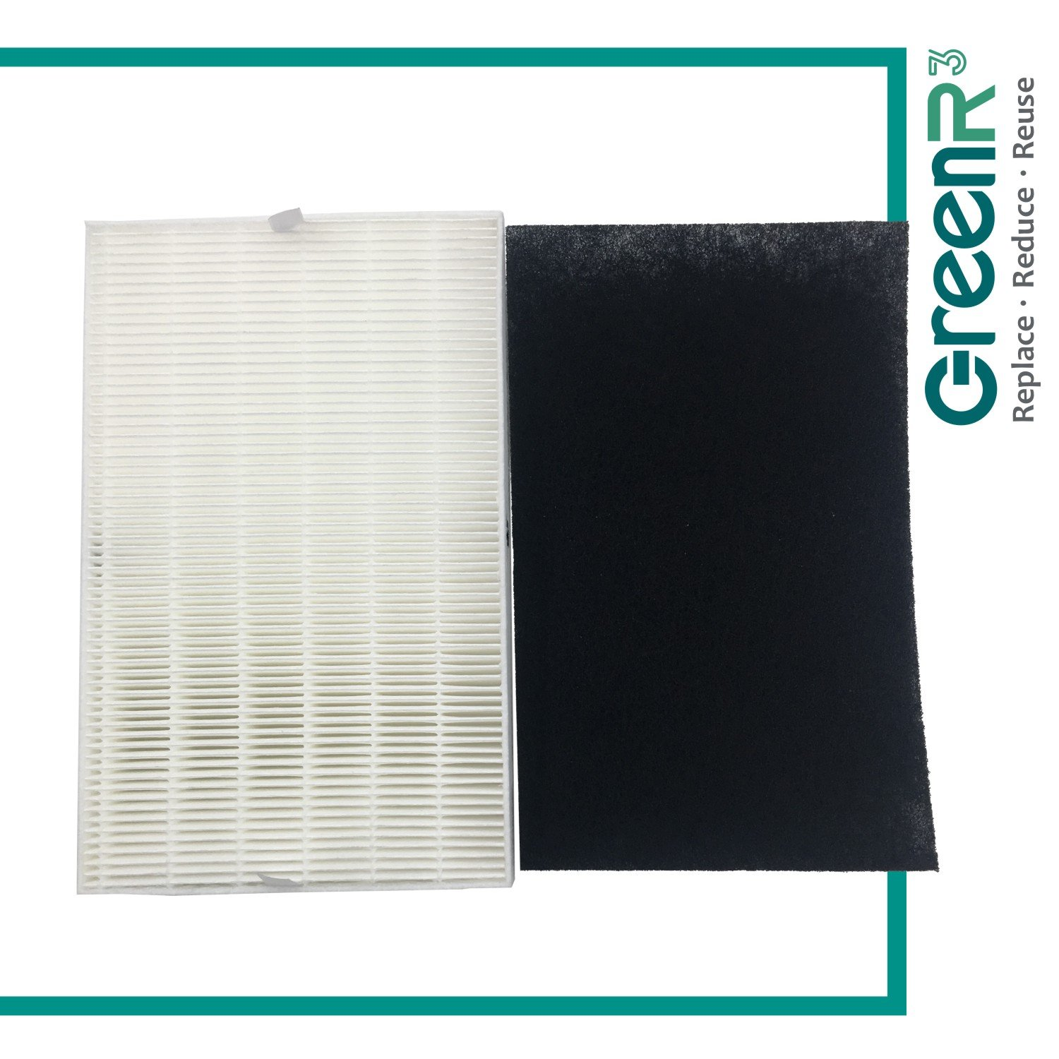 GreenR3 1-PACK HEPA Air Filters Air Purifiers for Honeywell HRF-R1 fits Filter R HPA-090 Series HPA-100 HPA090 HPA100 HPA-090 HPA-100 Console Model Replacement Parts Tool Accessories and more