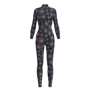 Custom Made Printing Women One Piece Bodycon Hot Sexy Rompers Ladies Latest Design Fitness Jumpsuit