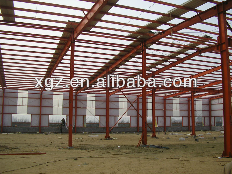 Light Construction Design Prefabricated Steel Structure Of Building For Workshop In Austrilia