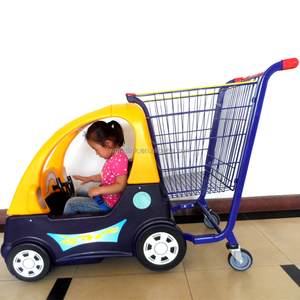 Supermarket Use 5 Wheels Rolling Baby Shopping Hand Cart