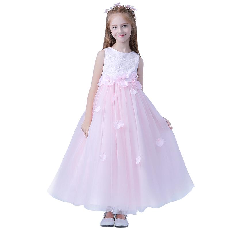 83aa7f59b5d54 صيف أطفال فساتين زفاف صور أبيض اللون الاطفال ثوب حزب جميلة-فساتين ...