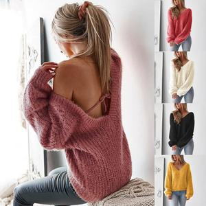 ladies wholesale hand fuzzy knitted sweater women chunky pullover wool designs oversized sweater custom women for ladies