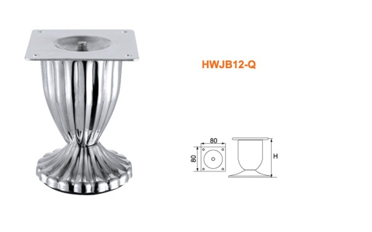 Chrome iron metal furniture feet suppliers wine cup shape sofa feet wine cup furniture leg iron cup shape leg