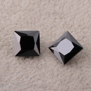 AAA grade cushion cut cubic zirconia/names black gemstone prices/square cutting synthetic gem