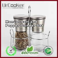 Stainless Steel Salt and Pepper Grinder Mill Set with Adjustable Ceramic Rotor