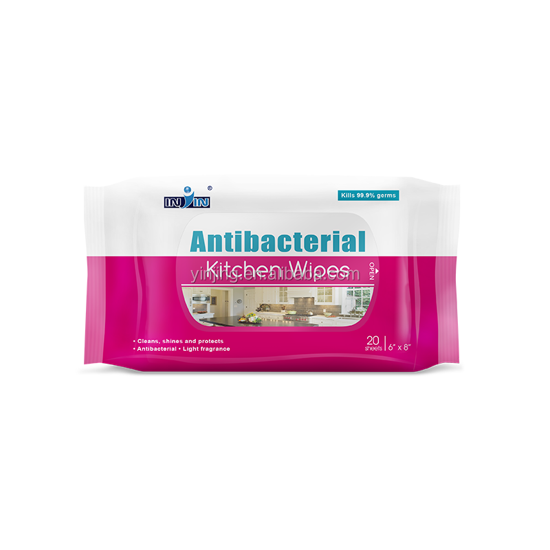 40gsm non-woven cleaning wipe kitchen wipes antibacterial