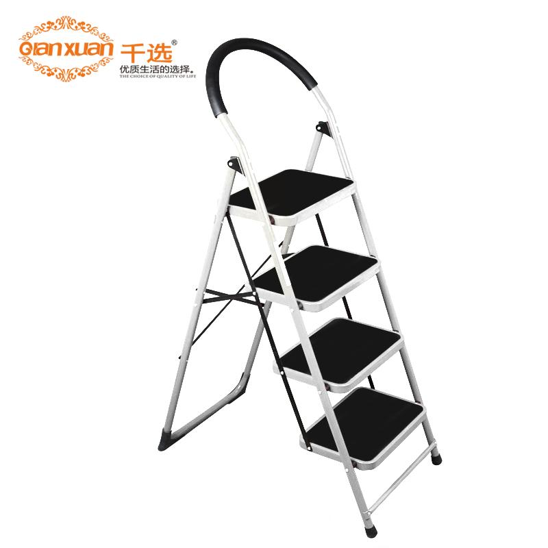 Household four step ladder folding ladder household ladder