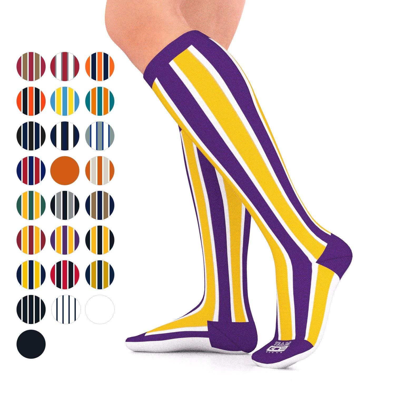 8088430498e Get Quotations · Go2 Team Compression Socks for Men   Women 15-20 mmHg  Athletic Running Socks for