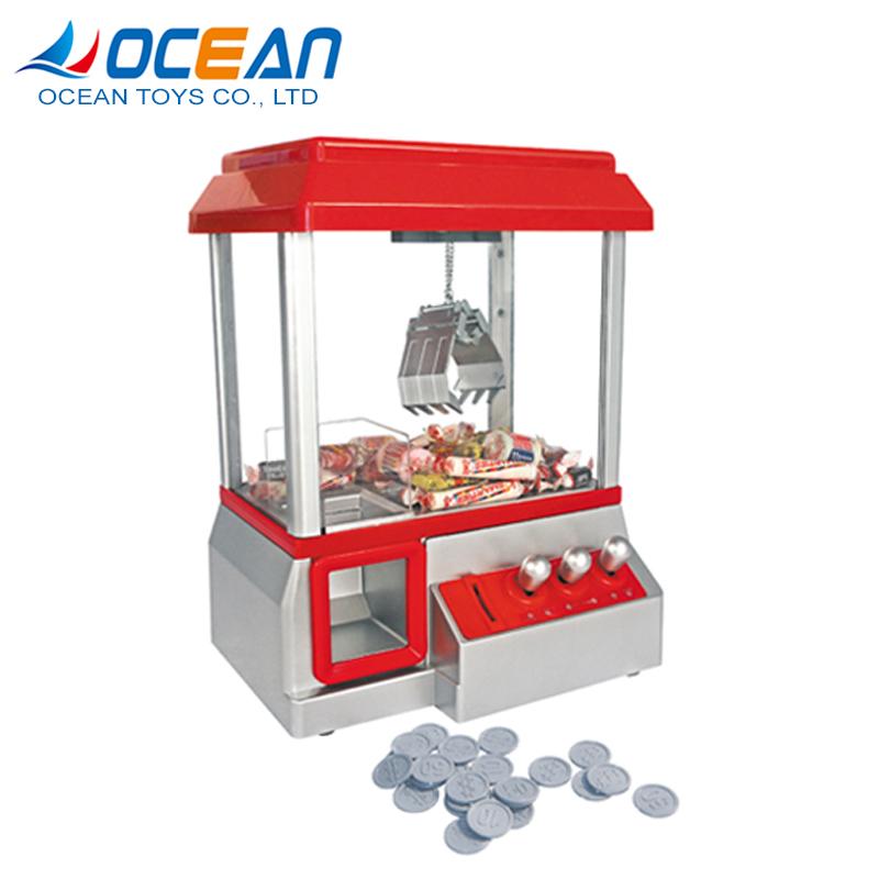 Kids electronic fun candy gaming machine toy grabbing machine