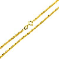 18K gold solid Italian twist chain