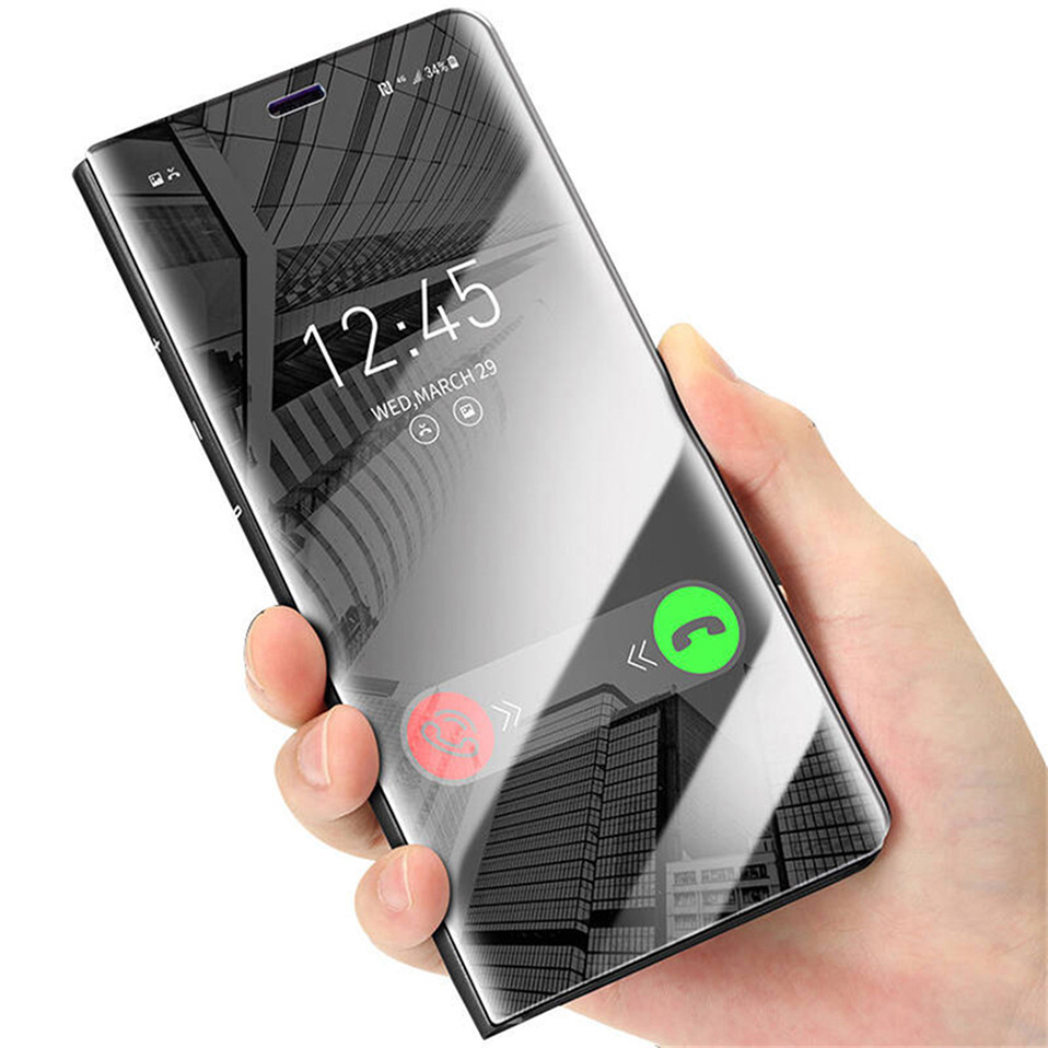 huge discount 316a6 89dd9 Luxury Mirror Flip Case For Samsung Galaxy S8 S8 Plus S7 S6 Edge Ultra Thin  Pu Leather Fundas Clear View Smart Cover Phone Cases - Buy Phone ...