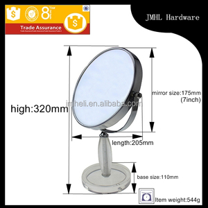 7 inches chrome table standing make up mirror for cosmetic