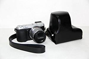 Handmade Genuine real Leather Full Camera Case bag cover for Panasonic GF6 14-42mm Lens Brown Bottom opening Version