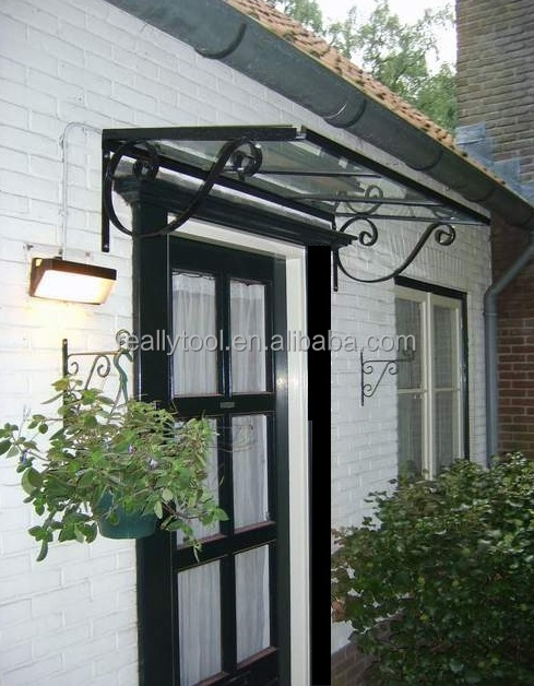 DIY metal door canopy with stylish design for your modern life