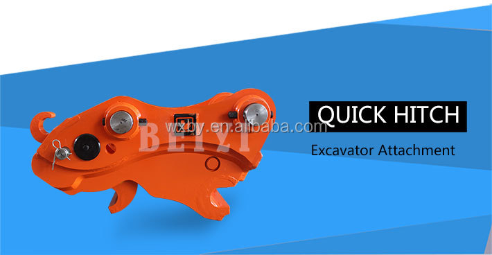 Excavator attachments hydraulic quick hitch coupling