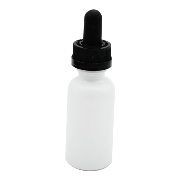 Empty 30ml 1oz oil Boston tincture glass dropper bottle with childproof lid