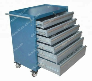 Steel Trolley with Drawers Tool Cabinet