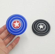 New shelves lighting in dark Marvel hero America captain shield silicone hand spinner soft finger fidget spinner toy