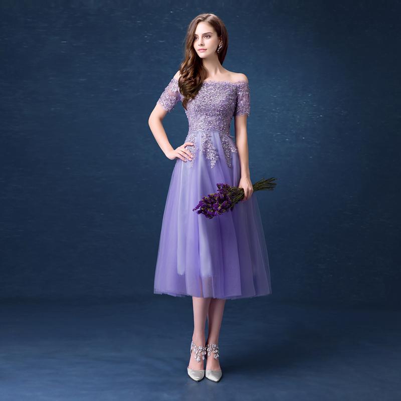 0c2f5b990334c 299 Free shipping Cheap Purple short prom dresses vestidos de noche ...