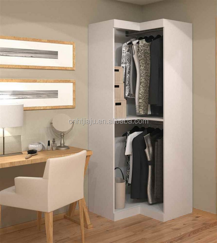 White Solid Wood Corner Wardrobe/small Simple Wardrobe/bedroom Furniture -  Buy Corner Wardrobe Bedroom Furniture,Solid Wood Wardrobe Furniture,Cheap  ...