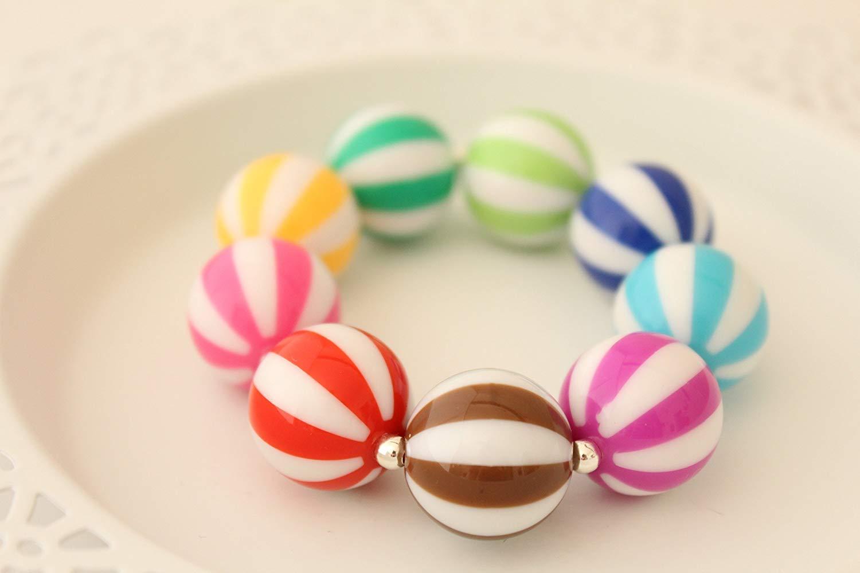 "Chunky Summer Beach Ball Sports Gift Jewelry Stretch Bracelet 5"""