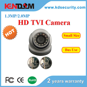 Very Very small size Bus Camera HD Image 960P/1080P HD-TVI Solution Dome Camera size as two coins Bus CCTV Camera