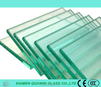 Heat-strengthened tempered glass/toughened glass for curtain walls in building