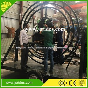 Attractions manual human gyroscope playground rides for sale