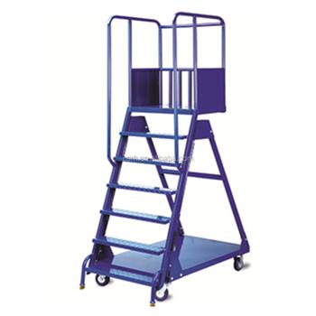 RH LT RT Mart 1250*600*2000mm Warehouse Safety Rolling Platform Stair