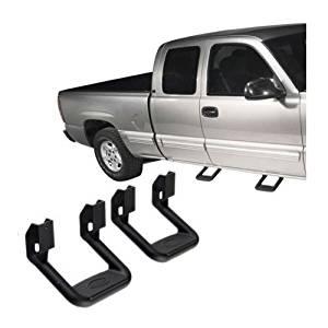 1pair (2pcs) Side Step Dodge Ram Jeep Universal Black Adjustable Nerf