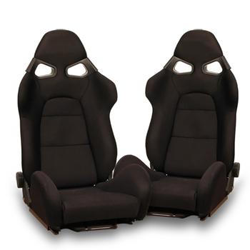 Black Cloth Universal Bucket Seats