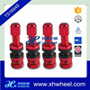 4pcs Metal Tubeless Wheel Tire Valve Stems High Pressure BOLT-IN with Dust Cap