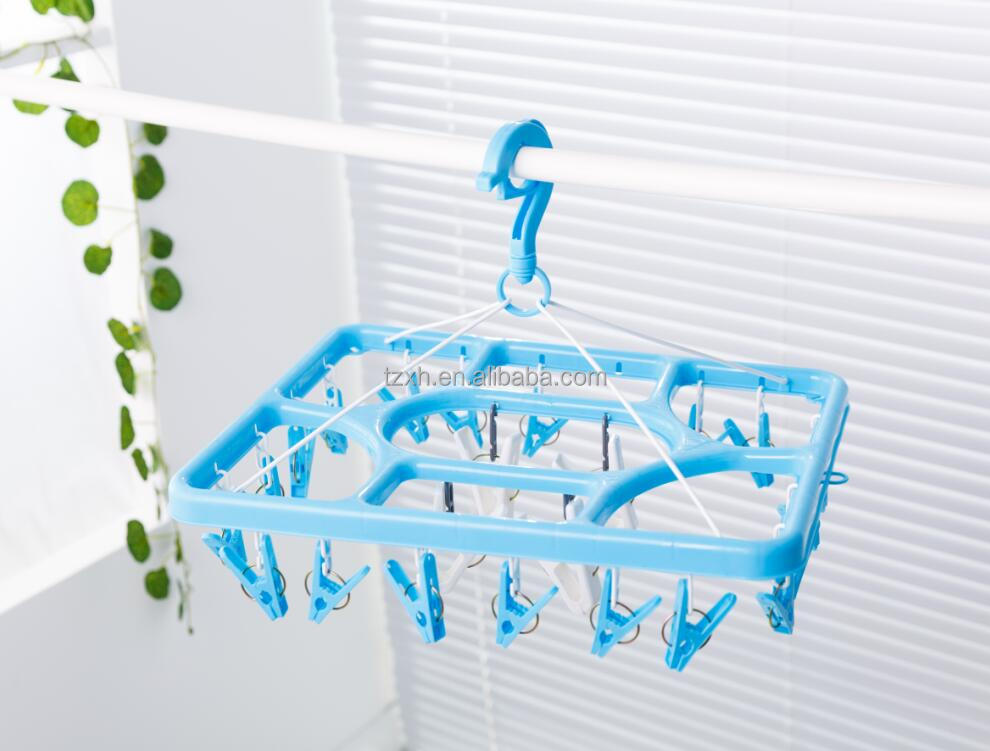 New Clips Clothes Hanger Plastic Clip And Drip Hanger