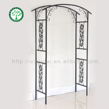 Metal Garden Arch Designs With Flat Top Garden Flower Arch On