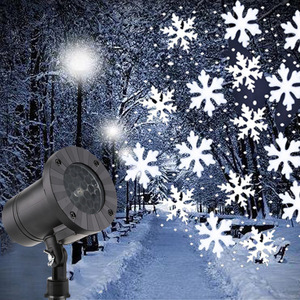 Christmas Snowflake Laser Light Snowfall Projector IP65 Moving Snow Outdoor Garden Lamp