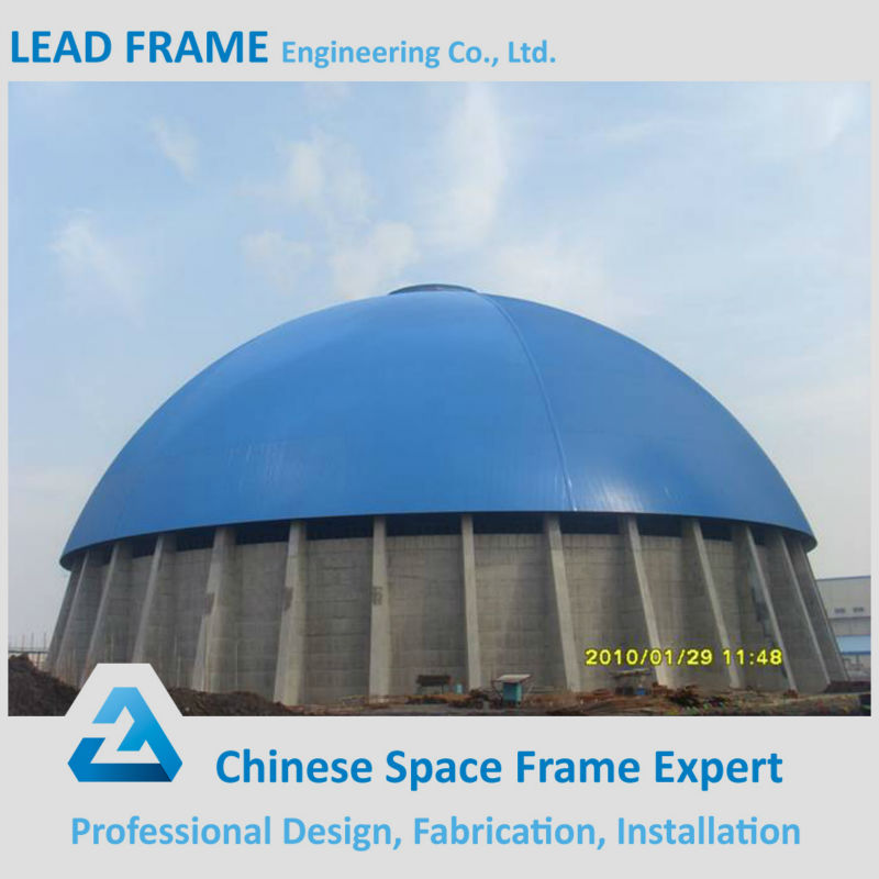 anti-falling prefab space frame for steel structure shed