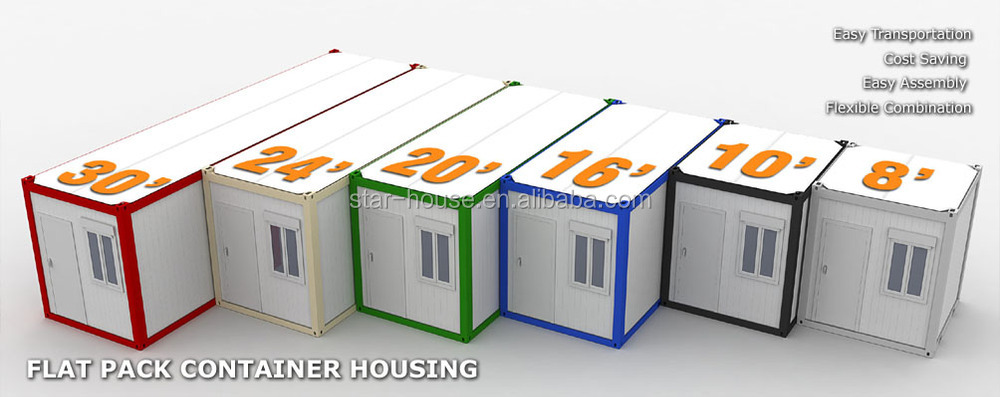Flat Pack Modular Container House Single Unit Used For Living Room Kitchen Or Domitory