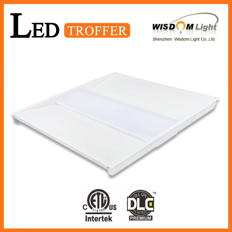 High Luminance UL DLC Lised Ultra -Thin Troffer LED Light For 125-130LM With 5 years warranty