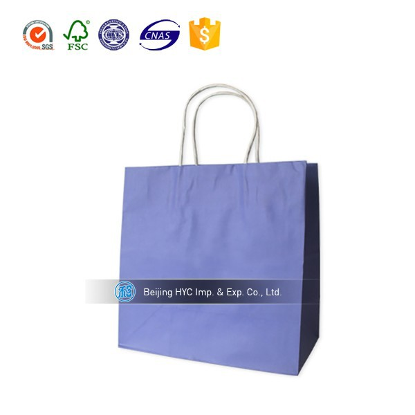 2017 OEM custom printed gift paper bag raw materials of paper bag