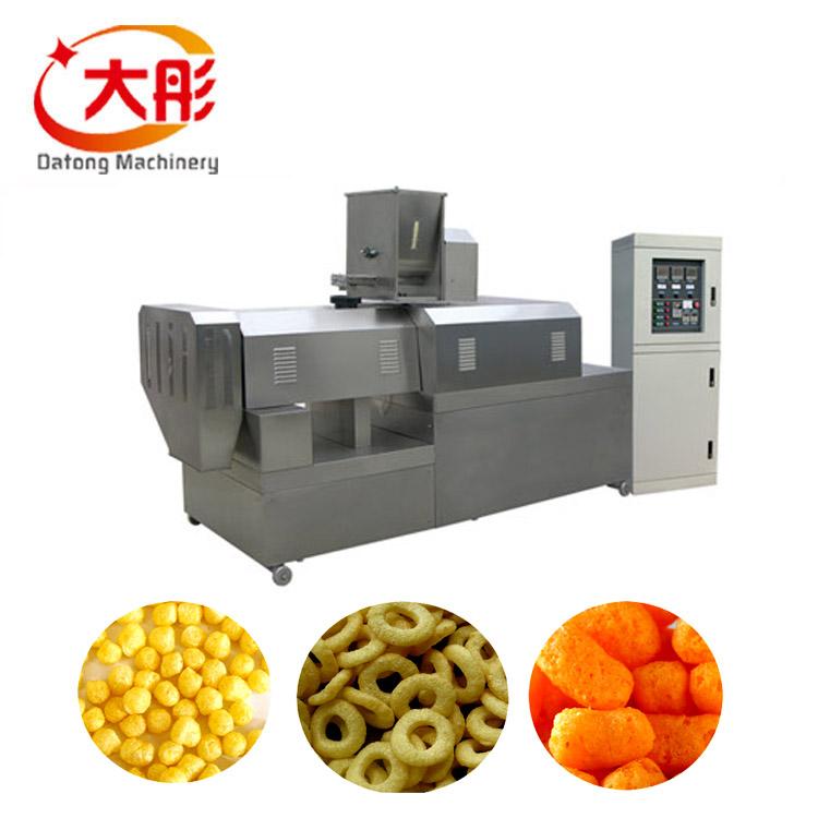 Mejor Precio extrusora Puff maíz aperitivos máquina de fabricación de alimentos