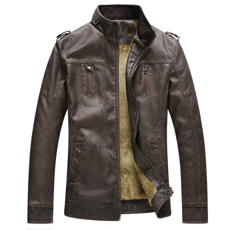 Soto6ro New Leather Jacket Man Biker Jackets PU Leathers Coat Jean Motorcycle Jackets