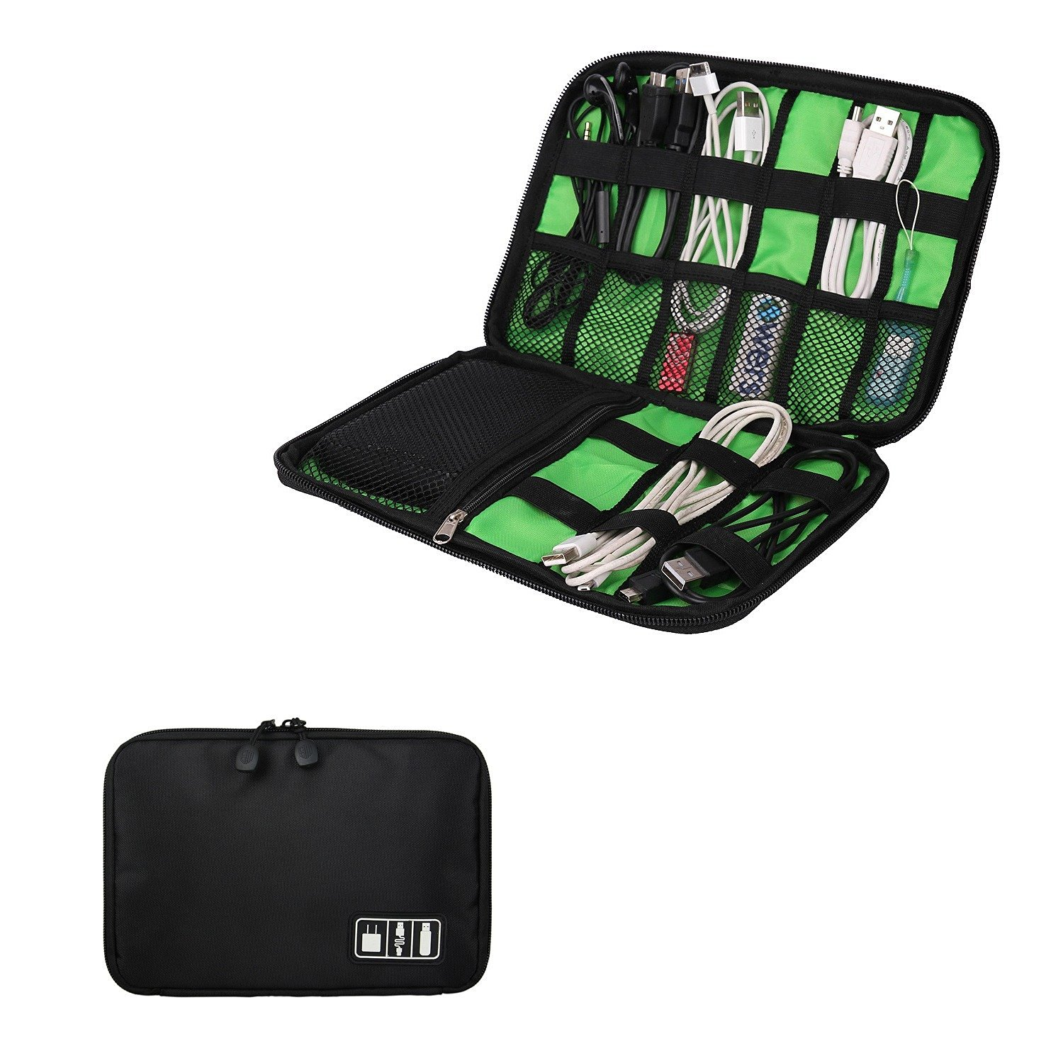 Foryee Waterproof Portable Universal Electronics Accessories Travel Organizer / Hard Drive Case / Cable Organiser
