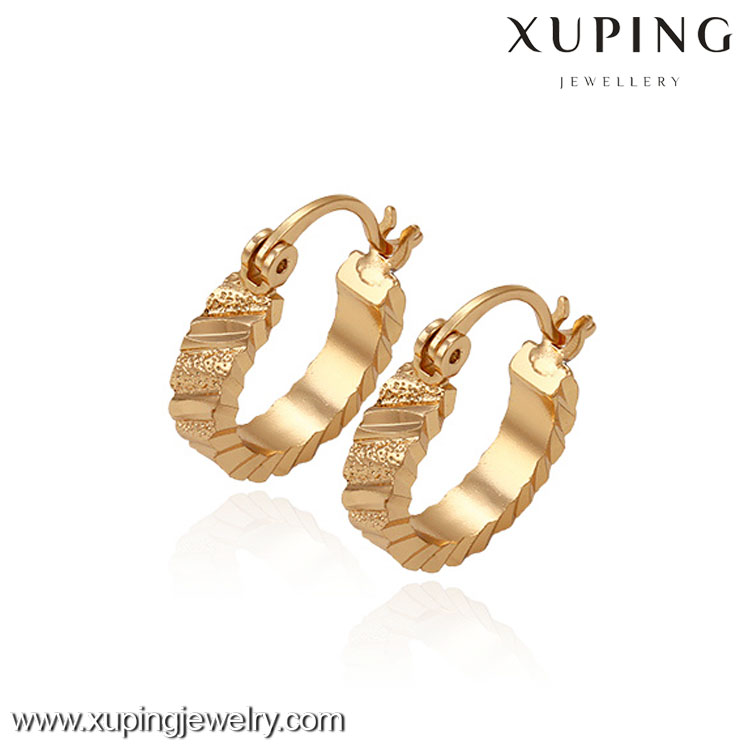 29700 -Xuping Promotional One Dollar Jewelry Hoop Shape Earring Free Shipping