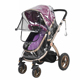 Plastic Pram Car Seat Waterproof Umbrella Universal baby stroller rain cover Weather Shield Cover for Strollers