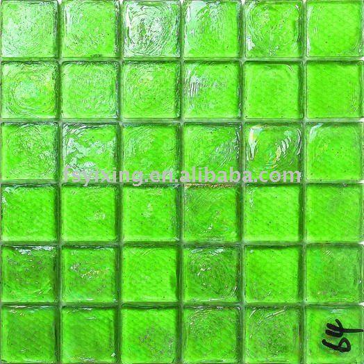 verde lechada azulejo mosaico de vidrio de cristal brillante azulejo gs para decoracion living room
