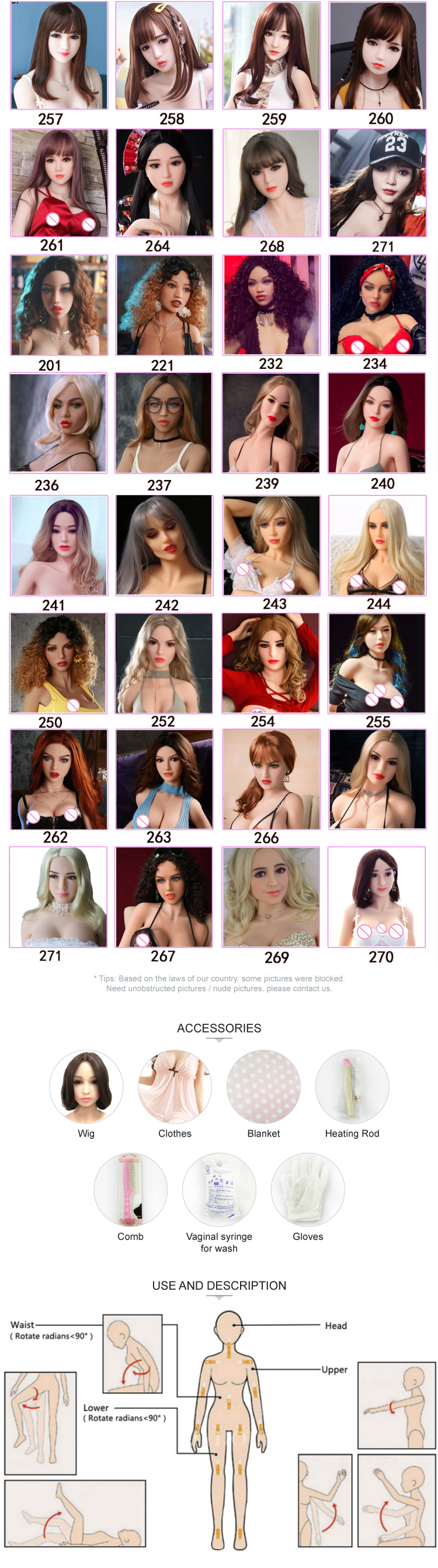 Hello Miss 166 cm 5 ft 5.3 in Curly pubic hair white skin smile revealing teeth curly girl silicone sex doll for men
