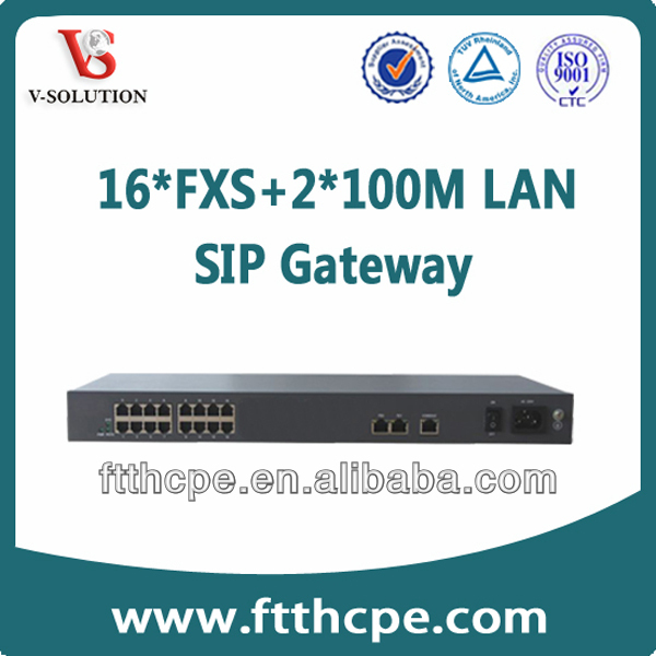 VoIP network and call center 16 fxs Voip Gateway Voip Gateway Analog Gateway